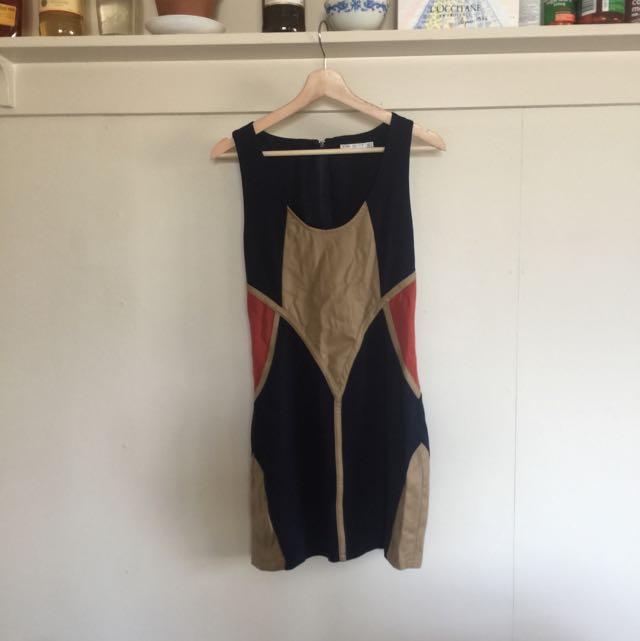 Pink Stitch Australia Bodycon Dress