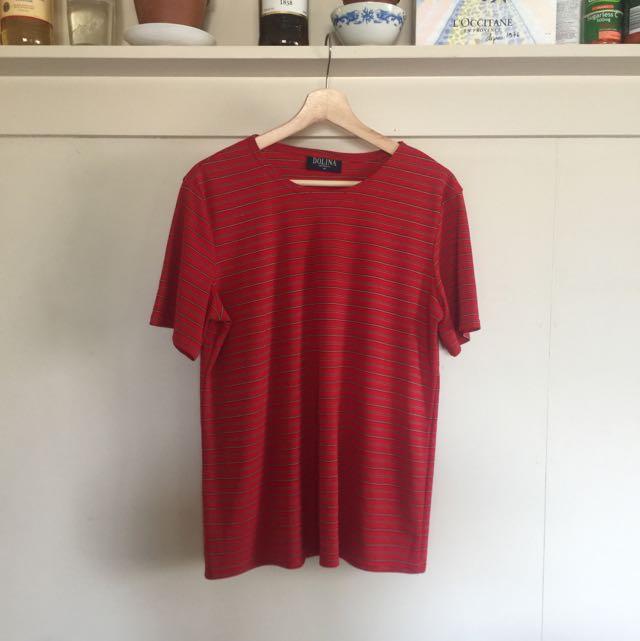 Red Stripey T-shirt