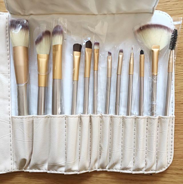 Rose Gold Makeup Brush Set 12pc