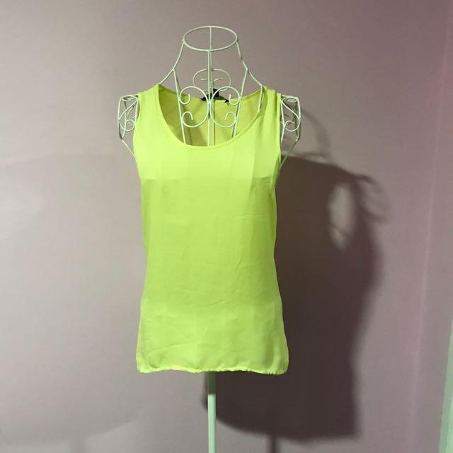 Saba Designer Yellow Singlet Top - Size 6
