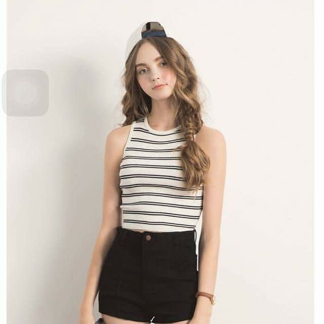 Stripe Crop sz S
