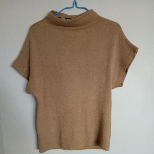 Tan Short Sleeve Top