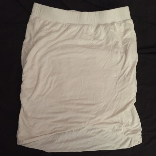 White High Wasted Skirt