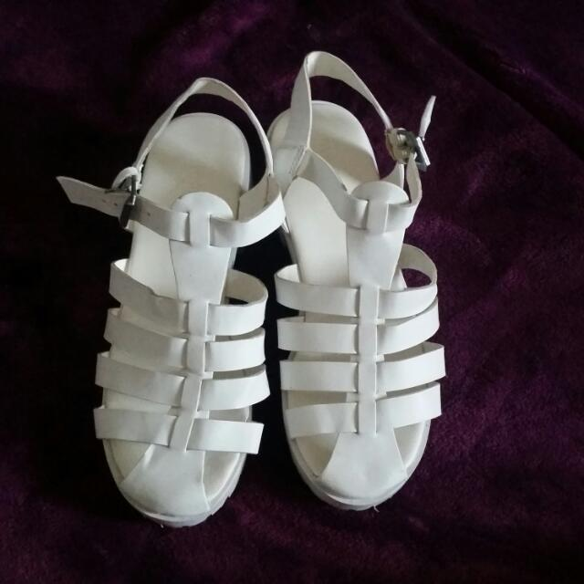 White Strappy Shoes