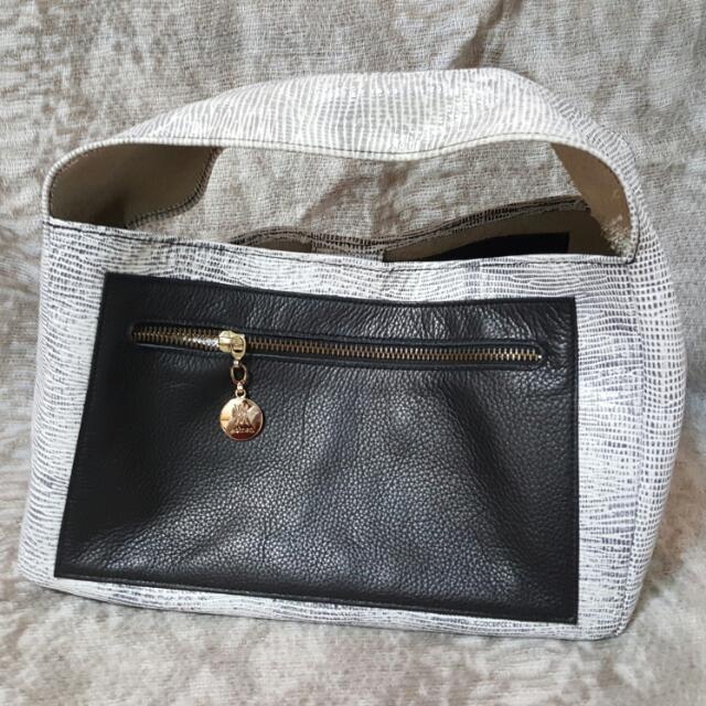 WOMEN ESHOP Benton Bag蜥蜴壓紋牛皮手袋