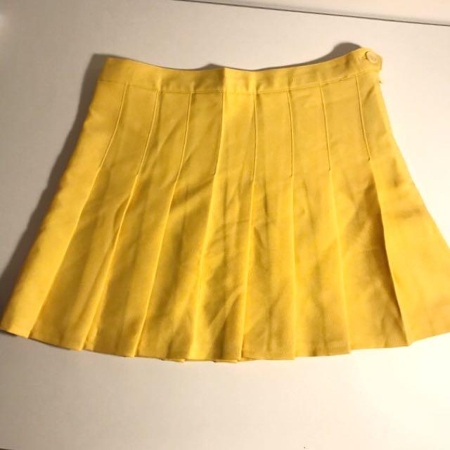 Yellow American Apparel Tennis Skirt