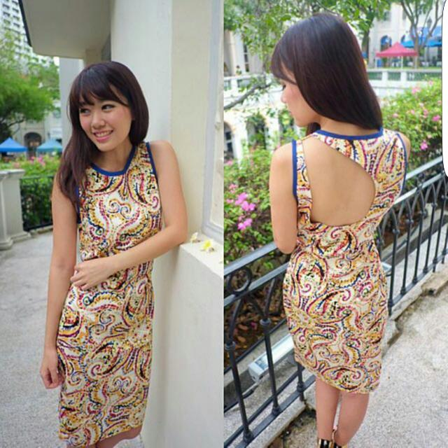 e61905f4 SALE!* Zara Inspired Printed Midi Dress, Women's Fashion, Clothes ...