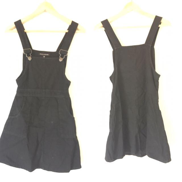 Ziggy Denim Black Overall Dress