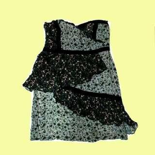 Floral Tube Mini Dress