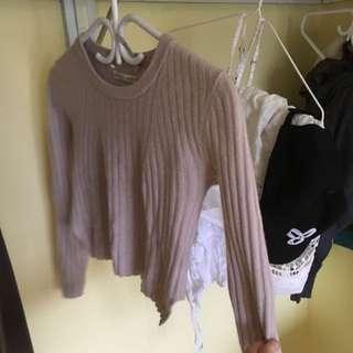 XXS Babaton Cropped Sweater / Shirt