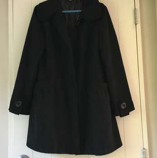 Seduce Brand Black Coat Size 10