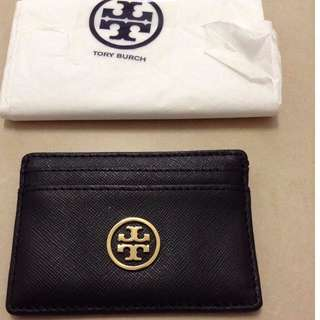 Tory Burch Credit Card Sleeve Wallet Black