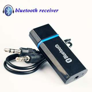 MINI Portable Wireless Bluetooth 2.1 + EDR Audio Receiver Aux 3.5mm USB Bluetooth Car Speakerphone MP3