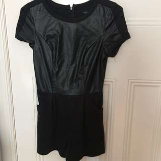 State Of Love Leather Top Playsuot