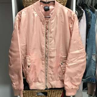 Blush Coloured Bomber Jacket Size 8