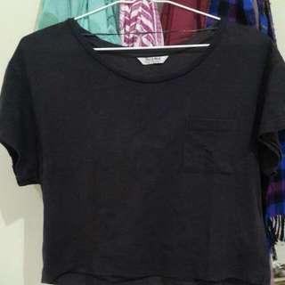 Pull N Bear Crop T Shirt