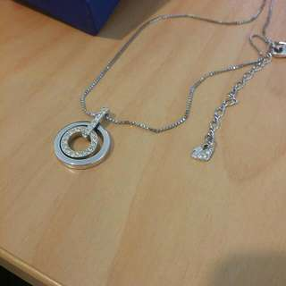 Swarovski Circle Pendant Necklace