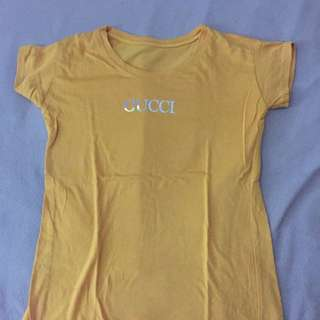Gucci Mustard Yellow T-shirt