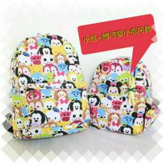 迪士尼 Tsum tsum 親子後背包