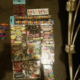 Scrapbook stickers
