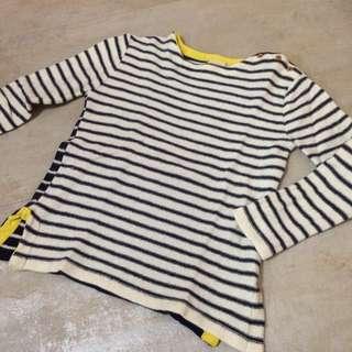 拼色條紋毛衣