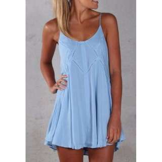 Morning Mist Blue Dress