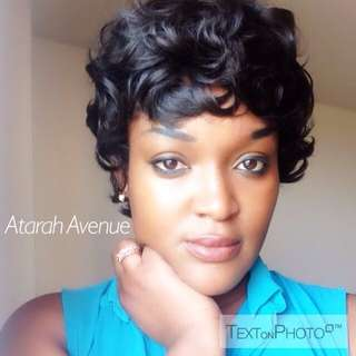 Short Curly Black Synthetic Wig