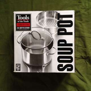 TOOLS stainless soup pot & steamer