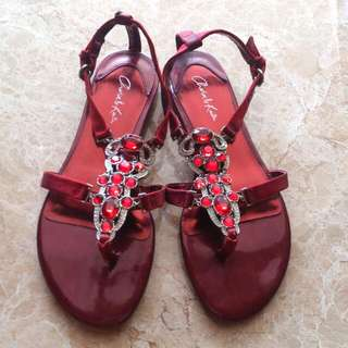 New Charles & Keith Ruby Red Sandal Size 7