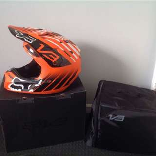 V3 Fox Savant Helmet Orange & Black