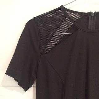 Black Bodycon Dress with Cutouts
