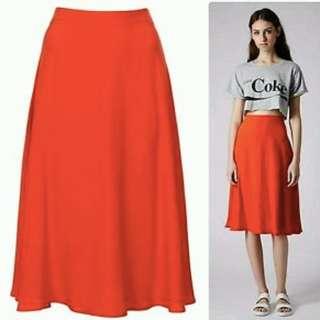 Topshop Midi Skirt Size 8