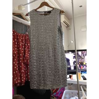 TOPSHOP WOMEN AUS SIZE 12 Silver Dress