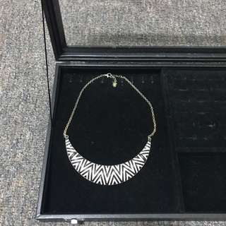 Zebra Pattern Necklace