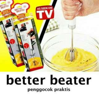 Better Beater Hand Mixer Otomatis / Alat Pengocok Telur Manual Otomatis