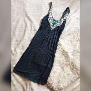 Gemstone Embedded Jersey Dress
