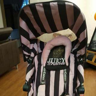 Maclaren Juicy Couture Pink/Brown Pushchairs Single Seat Stroller
