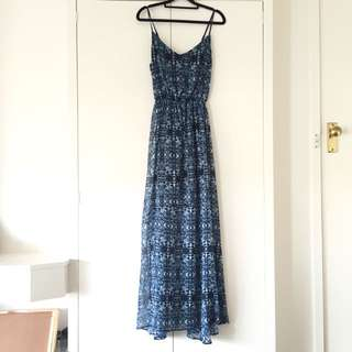 """Abercrombie&Fitch""Blue Pattern Summer Dress"
