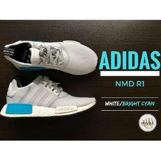 Adidas Originals NMD R1 (White / Bright Cyan)