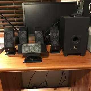 Logitech 5.1 Surround Sound Speaker System