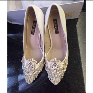 華麗緞面婚鞋(可議