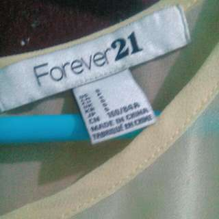 Forever 21 top in mellow yellow