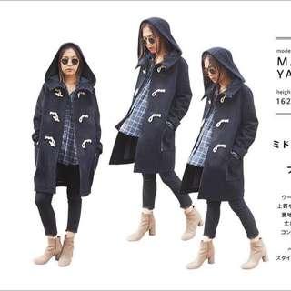 (保留)日本專櫃品牌ungrid牛角大衣