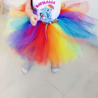 Rainbow Tutu Skirt (Kids Parties)