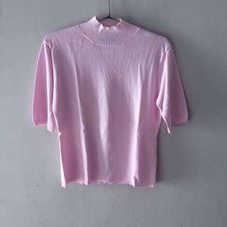 Pink Turtleneck