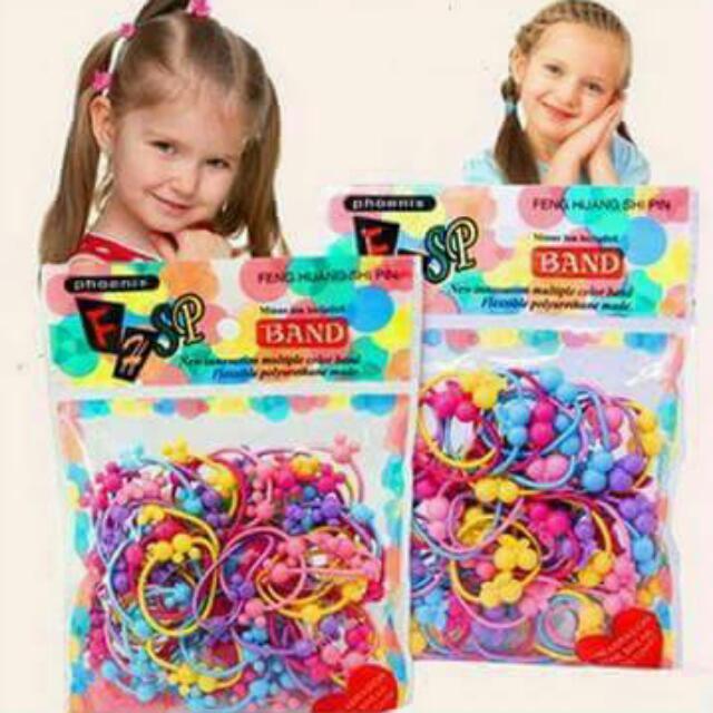 兒童造型髮圈/50入