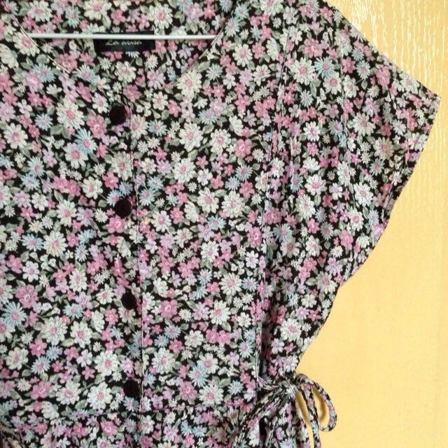 (降)女孩別哭古著碎花棉質洋裝