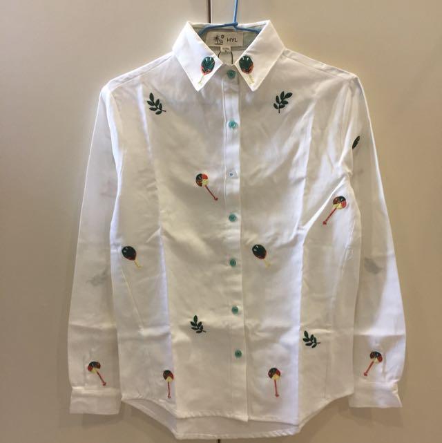 全新 樹葉襯衫