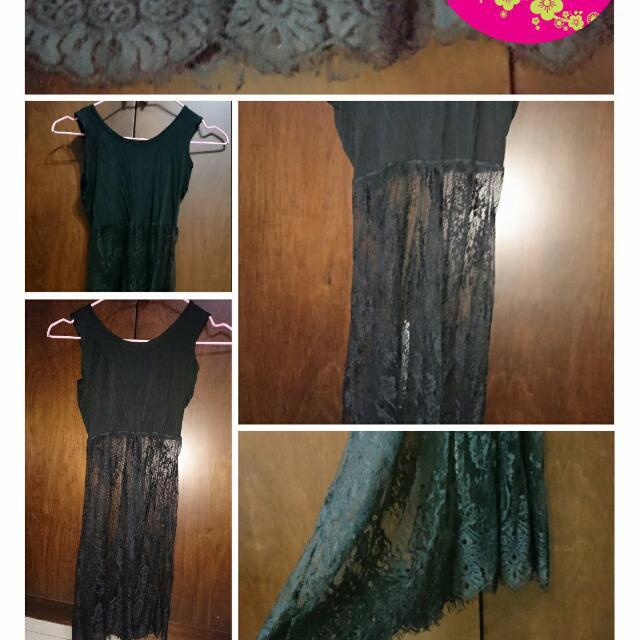 蕾絲黑色內搭裙 全新品