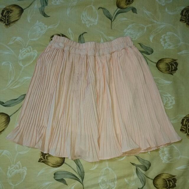 粉紅色雪紡紗短裙 內裡短褲 9.9新